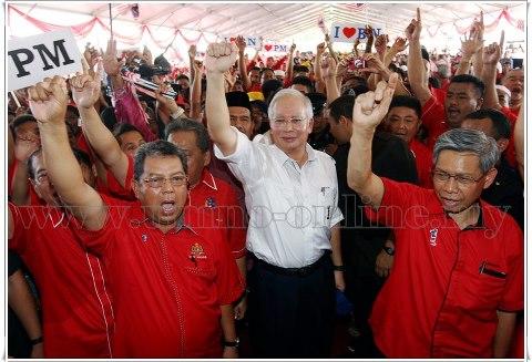 Gandingan kepimpinan yang berwibawa membuatkan sokongan rakyat terhadap BN bertambah.